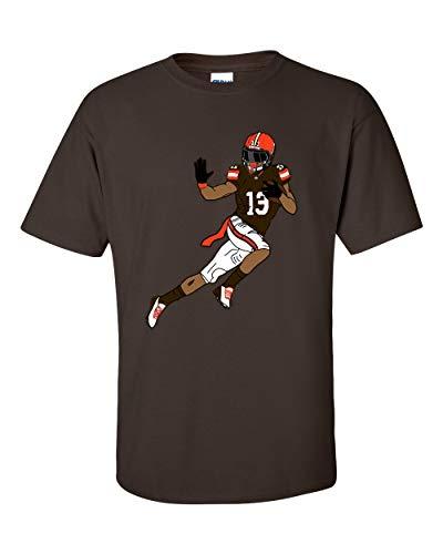 """T Shirt Jerks braunes T-Shirt mit Football-Grafik, Motiv: """"OBJ"""" Odell Beckham Jr - Braun - 4X-Groß"""