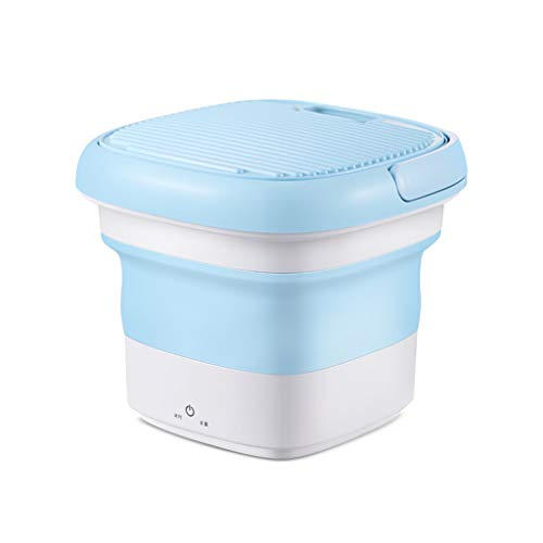 Portable Mini Folding Clothes Washing Machine,Counter Top Washer/Dryer,Mini Laundry Machine Bucket Automatic Stacked Washer and Dryer for Home Travel Self-driving Tour Underwear
