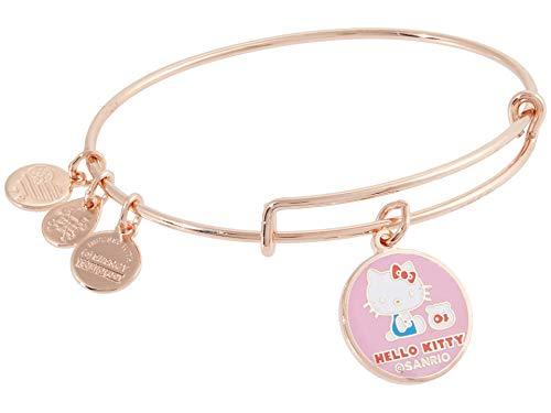 Alex and Ani Hello Kitty, Friends Bracelet Shiny Rose Gold/Pink One Size (AS20HK01SR)