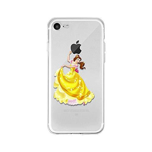 LXXTK Beauty And Beast Belle Princess TPU Soft Cover iPhone Cover A4 for Cover iPhone 7/Cover iPhone 8