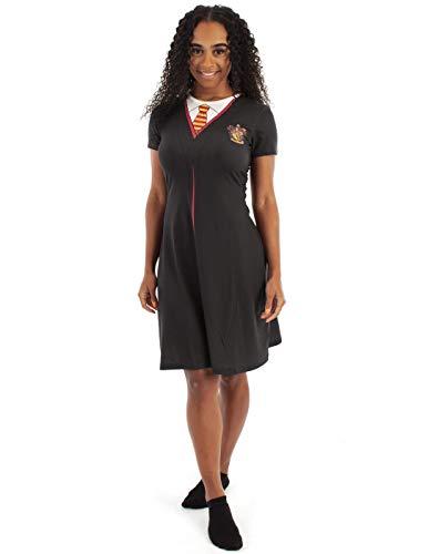 Harry Potter Gryffindor Capa Negro Disfraz Mujer Vestido Disfraz Cosplay