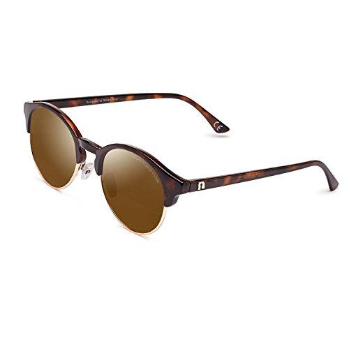 CLANDESTINE Sferico Habana Gold Brown - Gafas de Sol Polarizadas Hombre & Mujer