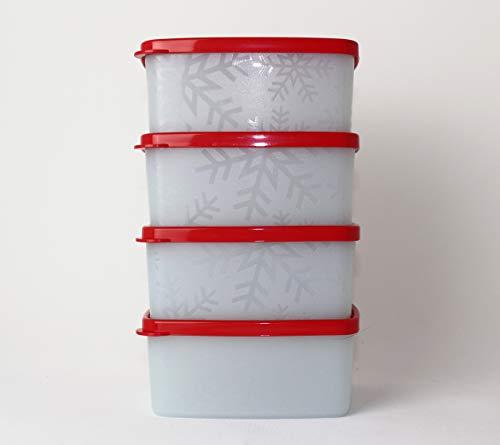 Tupperware Gefrier-Behälter Kühles Lottchen 400ml 4X Orange-Blau Kleiner Behälter Polarstern Frostbehälter