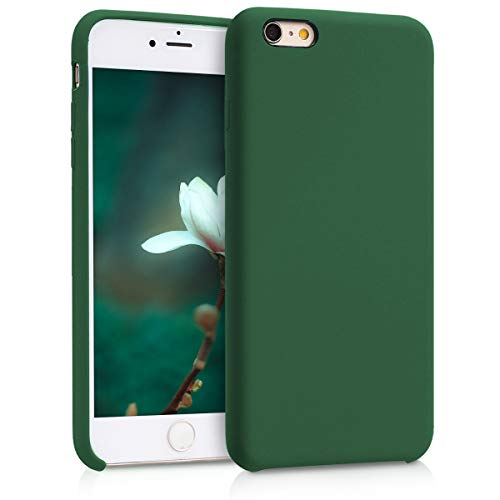 kwmobile Funda Compatible con Apple iPhone 6 Plus / 6S Plus - Carcasa de TPU para móvil - Cover Trasero en Verde Oscuro