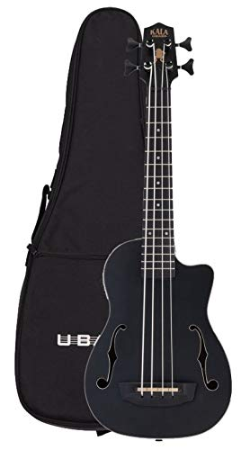 Kala Journeyman UBass Black U-BASS Mahogany with Gig Bag - New