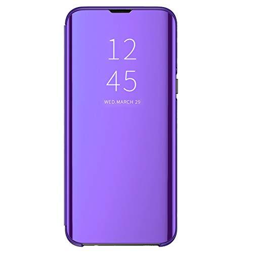 Clear View Standing Cover für das Samsung Galaxy S8, kompatibel mit Galaxy S8, Spiegel Handyhülle Schutzhülle Flip Cover Schutz Tasche mit Standfunktion 360 Grad hülle für Galaxy S8 (Violett, S8)
