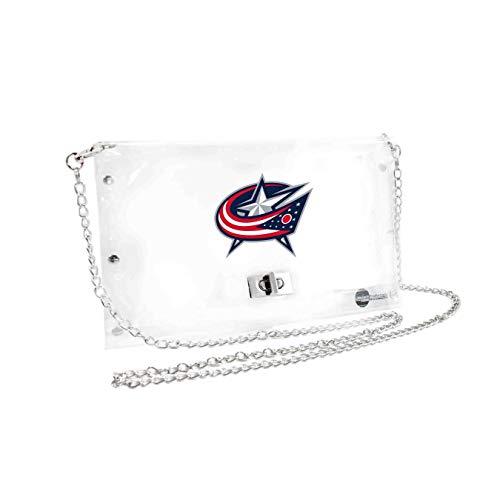 NHL Columbus Blue Jackets Clear Envelope Purse