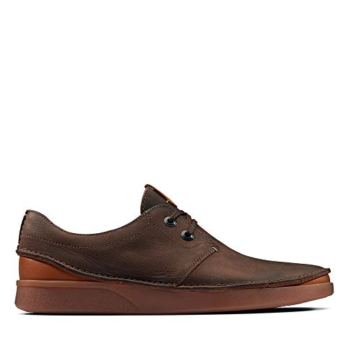 Clarks Herren Oakland Lace Derbys, Braun (Dark Brown Leather), 43 EU