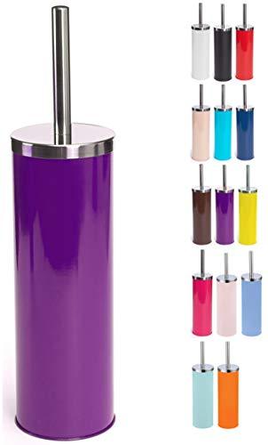 Escobilla de Inodoro de Acero Inoxidable con depósito en Color Morado