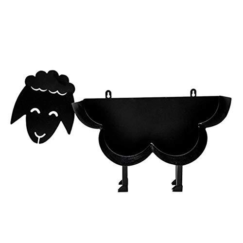perfk Portarrollos de Papel Higiénico Black Sheep - Almacenamiento de Papel Higiénico de Metal Montado en La Pared O Independiente, Soporte Exclusivo para P