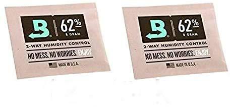 Lifestyle-Ambiente Variante de lujo 12 unidades Boveda individualmente plastificadas 62% 8 gramos Humidificador Pouch para tabaco de pipa, incluye ficha de catálogo