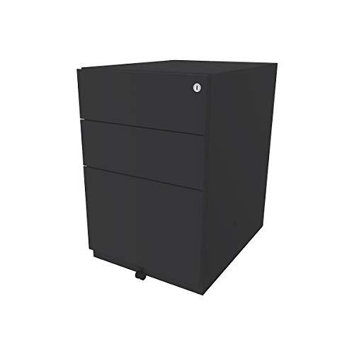 Bisley Rollcontainer Note™ - inkl. 5. Rolle, 2 Universalschubladen, 1 HR-Schublade, HxBxT 645x420x565 mm | NWA52M7SSF634 - Rollcontainer für Büro Beistellschrank
