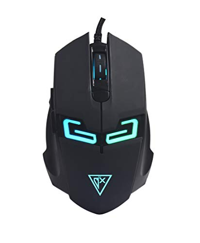 INPUTGX GAMING MOUSE GM105 USB 6D bancklight gaming mouse LED:7 colors breath , for Windows PC Gaming (Black)
