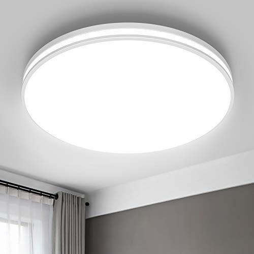 Airand - Lámpara de techo LED de 5000 K, lámpara de techo de 10,2 pulgadas, lámpara de techo impermeable de 20 W, lámpara de techo...