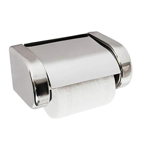 Pumprout Soporte de Papel higiénico de baño montado en la Pared de Acero Inoxidable Moderno Caja de Papel Impermeable para baño Caja de Almacenamiento de Rollo