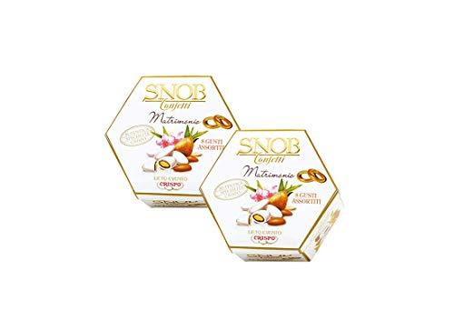 Confetti Snob Lieto Evento 1 Kg (2 conf) incartati singolarmente (Bianco)