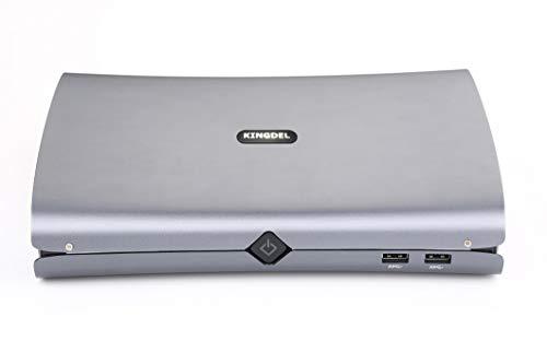 Kingdel F500 Leistungsstarker Mini-Desktop-Computer, Intel i7-6700HQ-Prozessor mit 4 Kernen, 16 GB DDR4-RAM, 512 GB SSD, dedizierte GTX960M-Grafikkarte, 4K 4096x2304, DP, HD