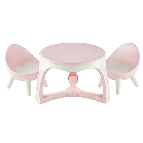 qazxsw Kids Study Table Family Children's Table and Chair Set Children's Room Learning Game Table Chair Can Withstand 200KG