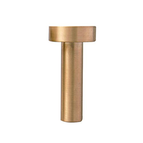 AFCITY Door Handle Pull Kit Solid Copper Drawer Clothes Shoes Wine Cabinet Door Handle Simple Single Hole Furniture Handle Pack of 2 for home for Home Hotel (Color : Gold, Size : 30X60mm)