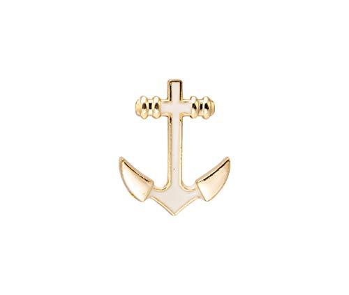 Knighthood Herren Goldener Anker Revers Pin Badge Reversnadel/Lapel Pin/Anzug/Sakko