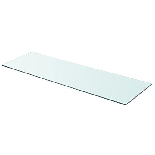 VidaXL Panel Estante Vidrio Templado Modelo Claro