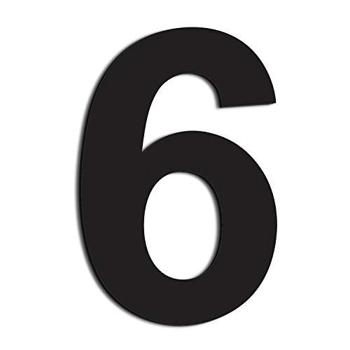 nanly Moderne Hausnummer aus Edelstahl,in Anthrazit RAL 7016,Ziffern & Buchstaben,Höhe:20.5cm/8 Zoll (Ziffer 6/9)