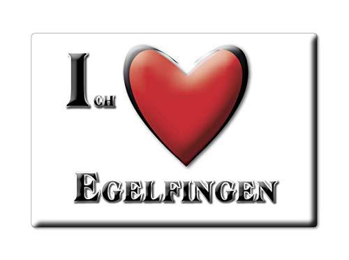 Enjoymagnets EGELFINGEN (BW) Souvenir Deutschland Baden WÜRTTEMBERG Fridge Magnet KÜHLSCHRANK Magnet ICH Liebe I Love