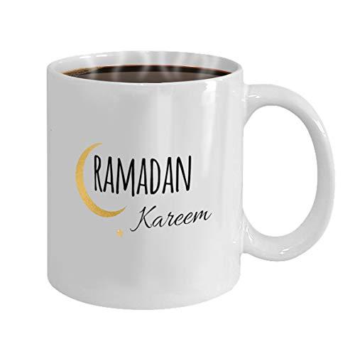 Birthday Gift 11oz Coffee/Tea White Mug(Two Sides) creative vector crescent moon and star for holy month of muslim community ramadan kareem celebration