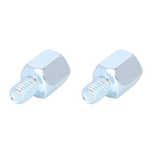 F FIERCE CYCLE 2pcs 8mm LH to 8mm RH Rearview Mirrors Reverse Adapter Screws Bolt Accessories Silver Tone for Motorcycle Bike