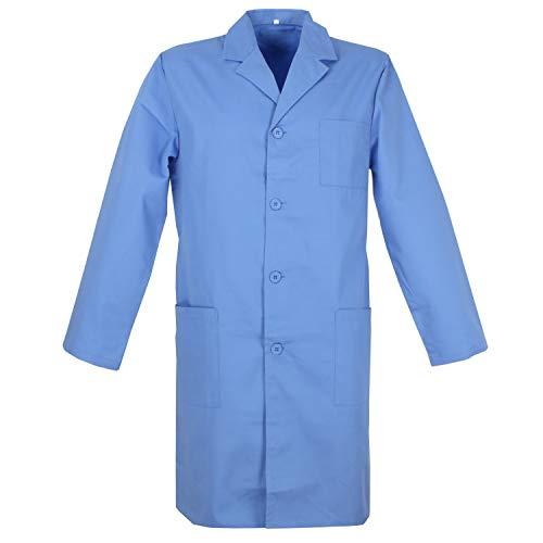 MISEMIYA - Casaca Mujer Cuadro Vichy Mangas Cortas Uniforme Laboral Dentista Doctora Limpieza Veterinaria SANIDAD HOSTERER�A Ref.852 - L, Camisa Laboratorio 852-2 Blanco