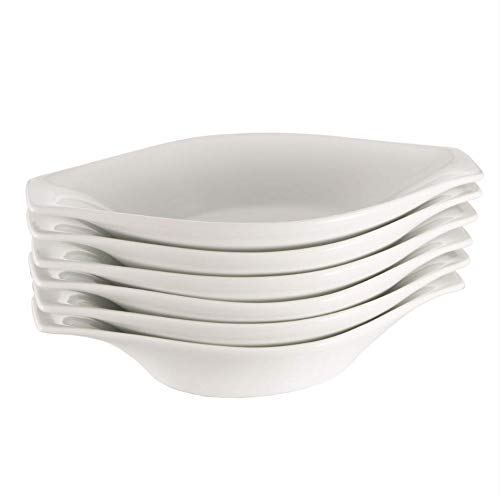 "Oval Au Gratin Baking Dishes, Rarebit, Fine White Porcelain 10 Inches Set Of 6 (10"" 6 PACK)"