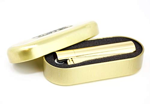 Clipper Metal Cigarette Lighter with Designer Box, Gold
