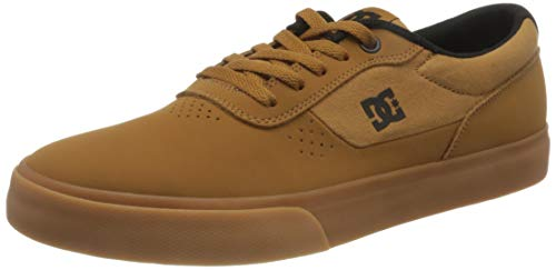 DC Shoes Herren Switch Sneaker, Wheat/Black/dk Chocolate, 38 EU