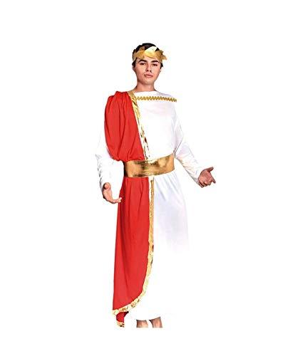 Disfraz Romano Adulto Hombre GriegoTallas S a L[Talla L] Toga Roja Corona Laurel| Disfraces Carnaval Histricos Antigua Grecia Roma para nios