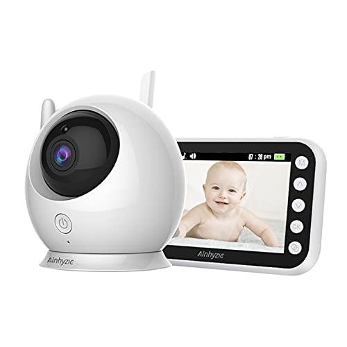 WQY Monitor Inalámbrico para Bebés con Cámara, Video Inalámbrico En Color, Seguridad para Niñeras para Interiores, Teléfono Electrónico para Bebés, Bebés Que Lloran, Alimentación