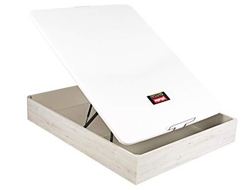 PIKOLIN Canapé/Abatible NATURBOX Color Glaciar (Base de Madera para colchón con Almacenamiento/Wooden Base for Mattress with Storage) Altura: 32 cm. (160x200 cm)