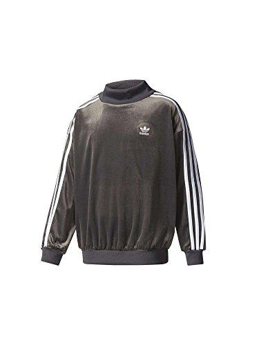 adidas J V Crew Sweatshirt, Kinder, Kinder, BQ3932, schwarz (Neguti/weiß), 128