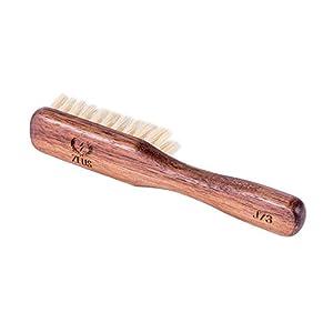 ZEUS Vegan Handle Beard Brush, Natural Plant Fiber Tampico Bristles and Walnut Handle, Made in Germany, FIRM - J73 8