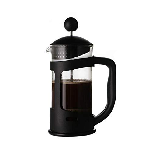 Quskto Cafetière, multifunctionele pot hittebestendig glas Franse pers Huishoudelijke Handige Franse pers pot theepot Uitzonderlijke volle koffie smaak