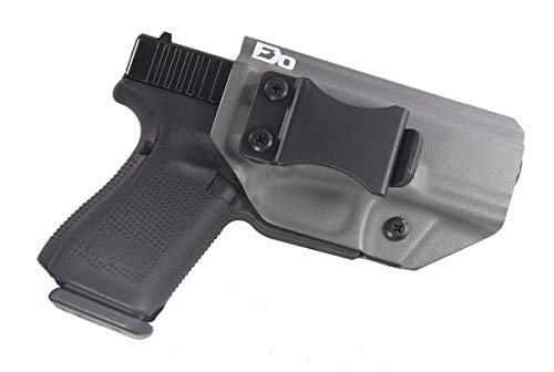 Fierce Defender IWB (Inside Waistband) Kydex Holster Compatible with Glock 19 23 32 'Winter Warrior Series -Made in USA- (Gunmetal Grey) GEN 5 Compatible!
