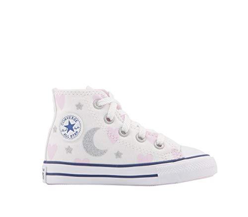 CONVERSE Chuck Taylor All Star Core, Zapatillas altas unisex para niños, color Blanco, talla 21 EU