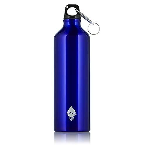 SJR 750ml - Borraccia in metallo riutilizzabile in alluminio - Tenuta stagna, senza BPA - Per palestra, escursionismo, sport blu