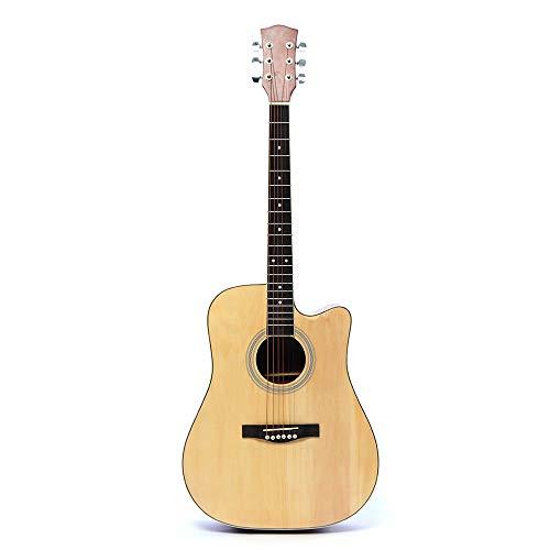 HUANH 41 pulgadas Basswood guitarra acústica clásica folk instrumento musical de tamaño completo HUANH