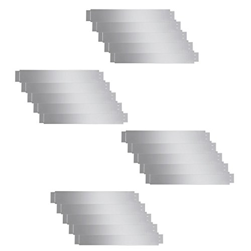 Set 20 Pièces Bord gazon flexible en acier galvanisé 100 x 15 cm. Ce bord de clôture de haute qualité sont Flexible et peut être plié en toute forme avec facilite