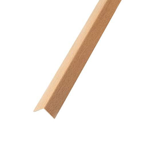 DQ-PP WINKELPROFIL | 20x20mm | 1m | buche | PVC | Kunststoff Winkelleiste | Außenecke Kantenschutz Wand L Profil Eckprofil