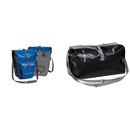 VAUDE Radtasche Aqua Back Plus, Blue, One Size, 124123000 & Radtasche Top Case (PL), Black, One Size, 124160100
