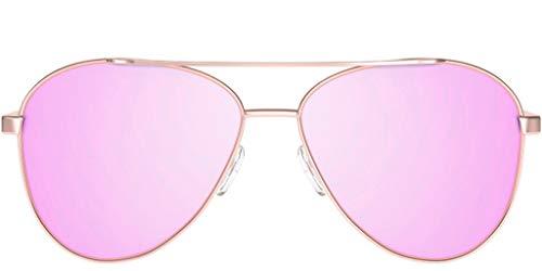 Pura Alegría Gafas de Sol Rose Gold - Acero Inoxidable, Polarizadas con Protección Ultravioleta, Color Rosa