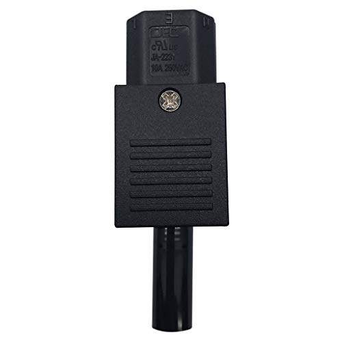 IPOTCH IEC320 Adaptateur d'alimentation 250V 10A Bannane à 3 Broches,Plug And Play