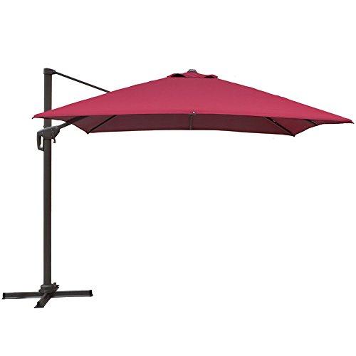 SNAIL 10' Square Offset Cantilever Patio Umbrella with 360 Degree Rotation, Aluminum Crank Lift Tilt...