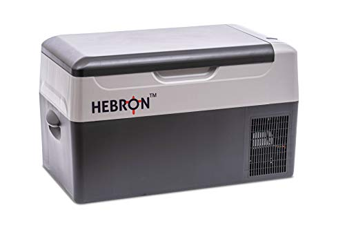 Hebron Automotive 21Q Portable Refrigerator/Freezer for Camping, Fishing and Travel - 12/24 Volt DC Mini Chest Cooler for Vans, Campers, RVs and Boats